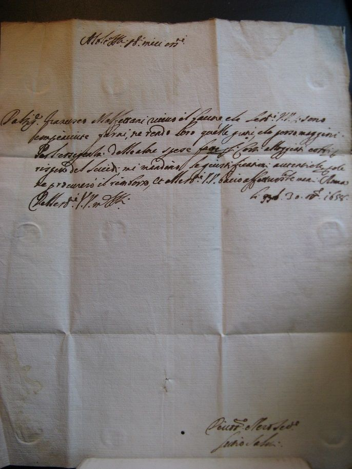 1658!...Antique Cardinal letter from Rome, text 1658...Papal States