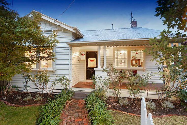 White on white Californian Bungalow. 10 A'Beckett Street COBURG $570,000 - $620,000 @ domain.com.au