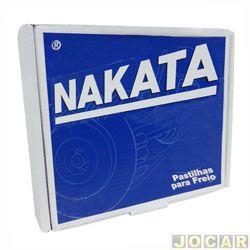 Pastilha de freio - Nakata - Gol 81/93 - Passat 74/89 - Parati 82/93 - Saveiro 84/93 - Voyage 82/94  - jogo - NKF1017P