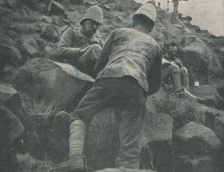 General Warren at the bottom of Spion Kop during the battle