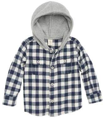 96e1c8ffa Tucker + Tate Plaid Hooded Flannel Shirt | Baby Boy Style | Nordstrom