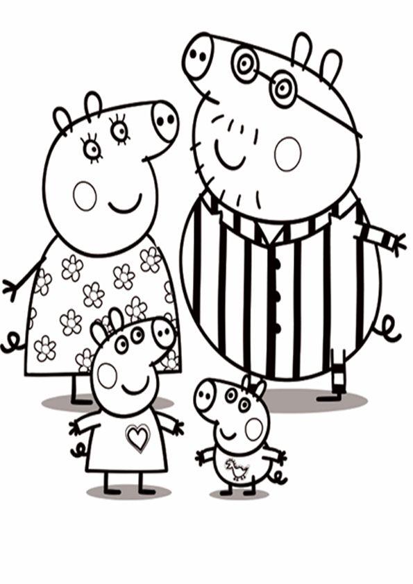 Dibujos PEPPA PIG para colorear - Dibujos de PEPPA PIG