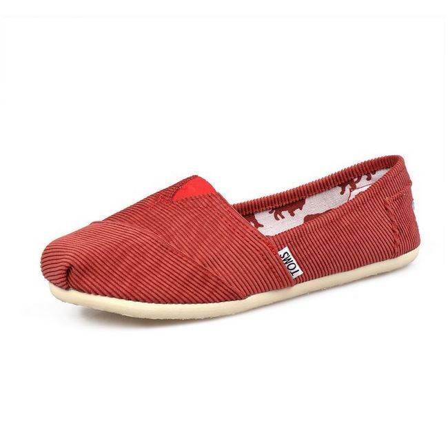 New Arrival Toms women shoes corduroy red