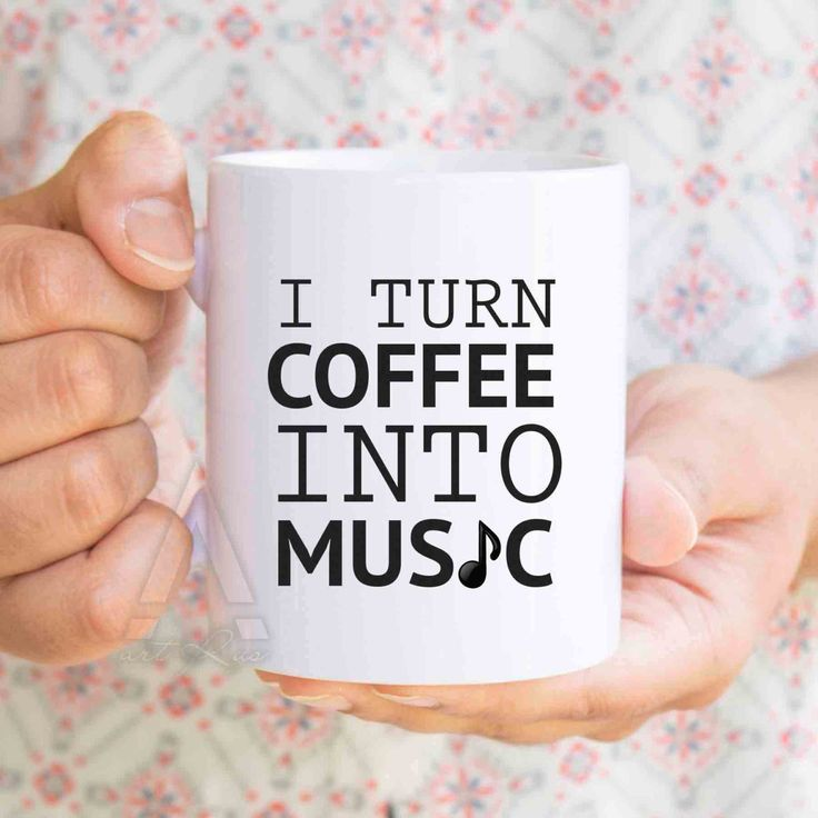 "Music teacher ""I turn coffee into music"" music teacher gift, ,usic gifts, music gifts for men, music graduation, music lover gift, MU216 by artRuss on Etsy"