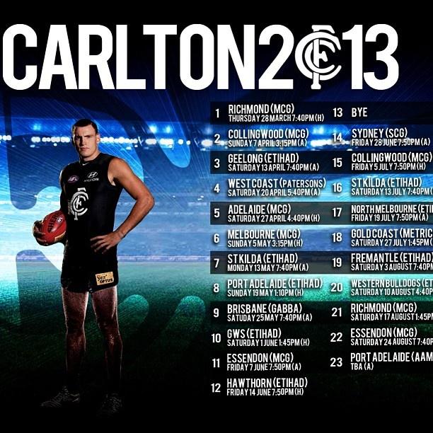 2013 footy fixture