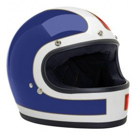 BILTWELL GRINGO HELMET TRACKER - RED WHITE BLUE