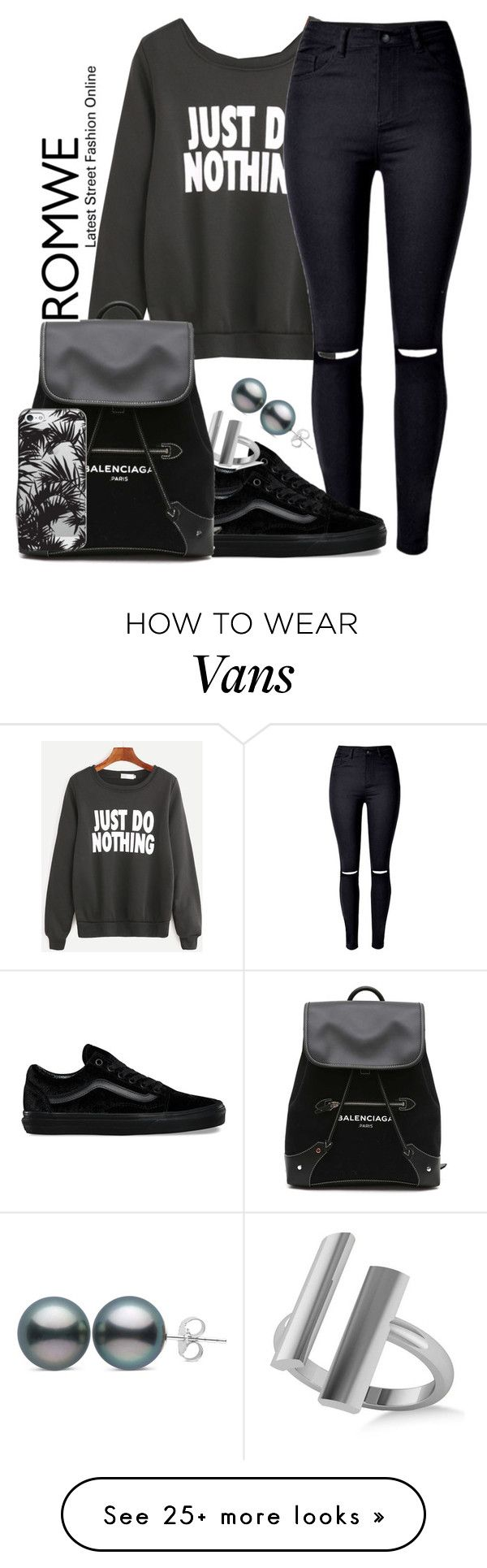 """""""Untitled #904"""" by amazing-crazy-love on Polyvore featuring WithChic, Vans, Allurez, Balenciaga and Casetify"""