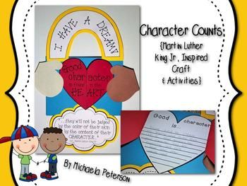 Character Counts {Martin Luther King Jr. Craft  Printables}