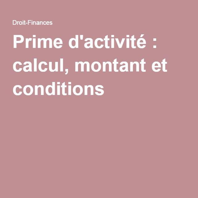 Prime d'activité : calcul, montant et conditions