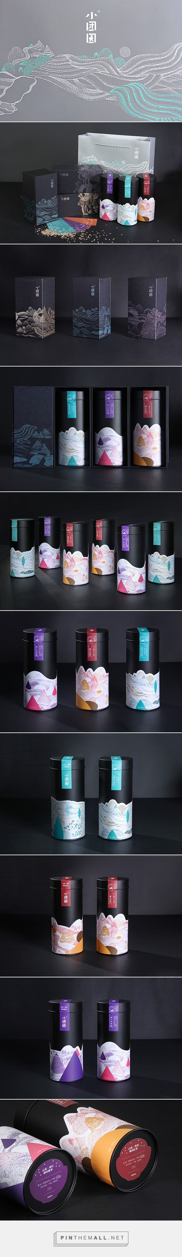 Xiaotuanyuan (I believe it's tea oil, rice and salt -please feel free to correct me) designed by Yi Mi Xiaoxin. Pin curated by #SFields99 #packaging #design