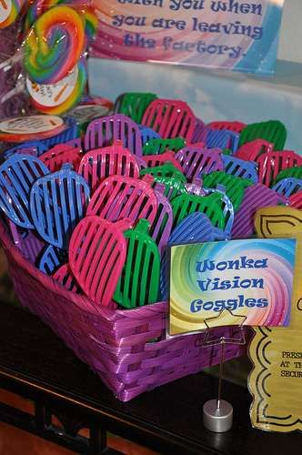 Wonka Vision Goggles - Willy Wonka and the Chocolate Factory Birthday Party Ideas | Photo 20 of 71 | Catch My Party