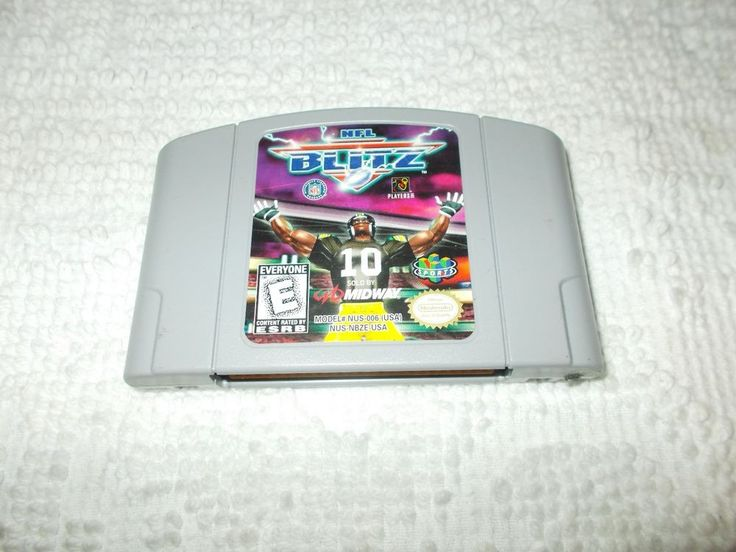 NFL Blitz Nintendo 64 N64 Football Video Game Cartridge Tested Works #Nintendo