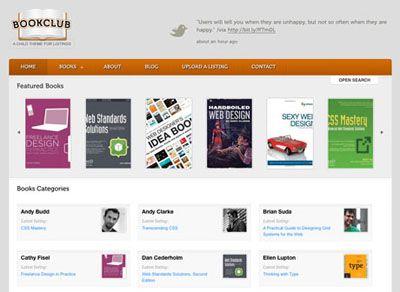 Bookclub Wordpress Theme for Showcase Books Directory, Book Publisher, Bookworm, Affiliate Advertiser Website