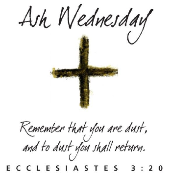 Lent begins on Ash Wednesday.