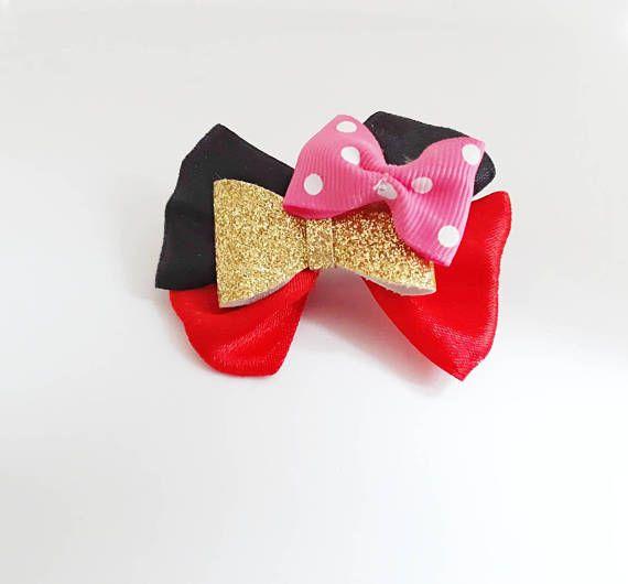 #glitterbows #giftforgirls #giftunder10 #giftunder5 #hairbows #hairclips #polkadot #polkadotbows #minniebows