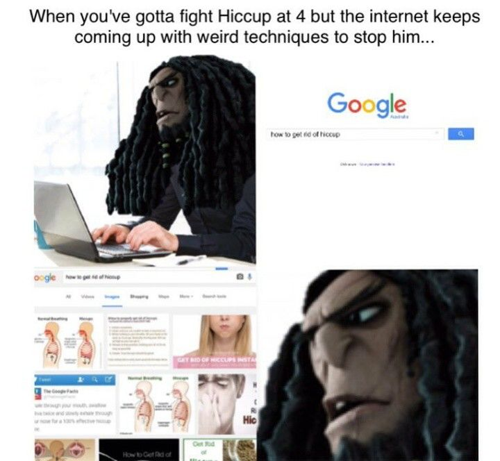 When you've gotta fight Hiccup at 4 but the internet keeps coming up with weird techniques to stop him.