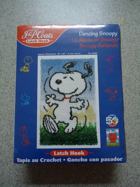 Dancing Snoopy Latch Hook Rug Kit by CraftsbyCummins on Etsy