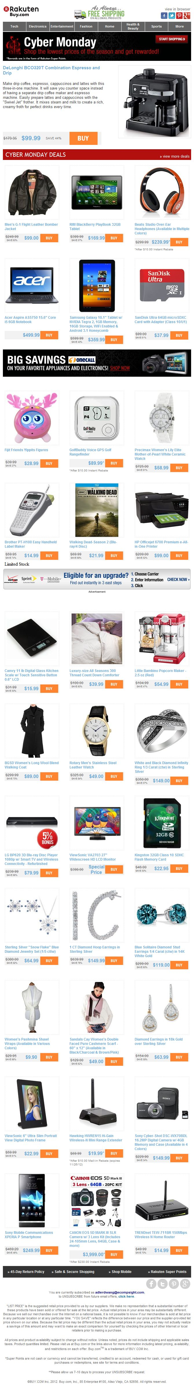 47 best cyber monday email design gallery images on pinterest cyber monday is almost over delonghi espressoand drip 9999 blackberry playbook tablet 16999 blackberry playbookdigital photo frameemail jeuxipadfo Choice Image