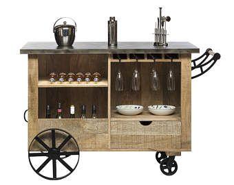 Industrial Bar Cart/Utility Cart