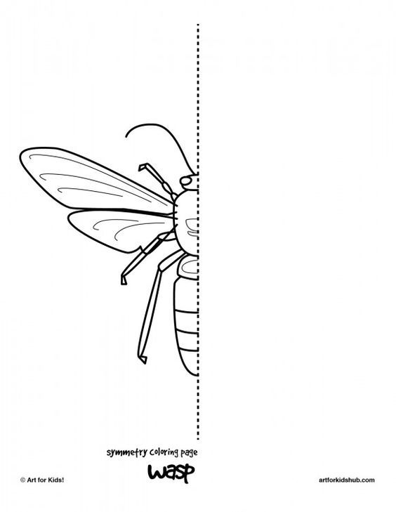 coloring page wasp                                                                                                                                                                                 More