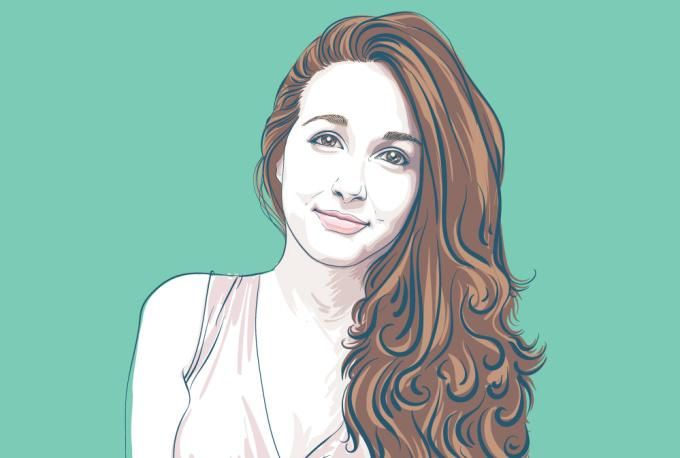 draw your portrait in my author cartoon style by valentinagulina