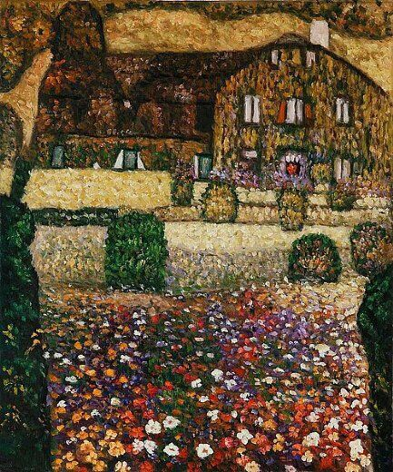 Country House by the Attersea / Casa di campagna, (1914) - Gustav Klimt - Oil painting