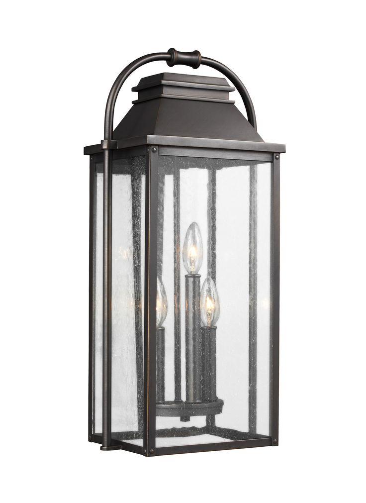 0-029513>Wellsworth 3-Light Outdoor Wall Lantern Antique Bronze