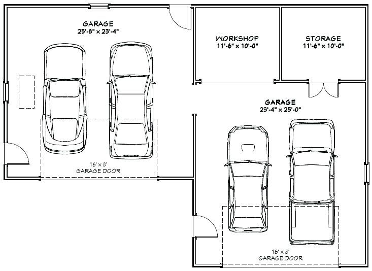 Garage Size 4 Car Garage Size 4 Car Garage Dimensions 4 Car Garage Size Standard 4 Car Garage Garage Size For 2 Garage Floor Plans Garage Dimensions Car Garage