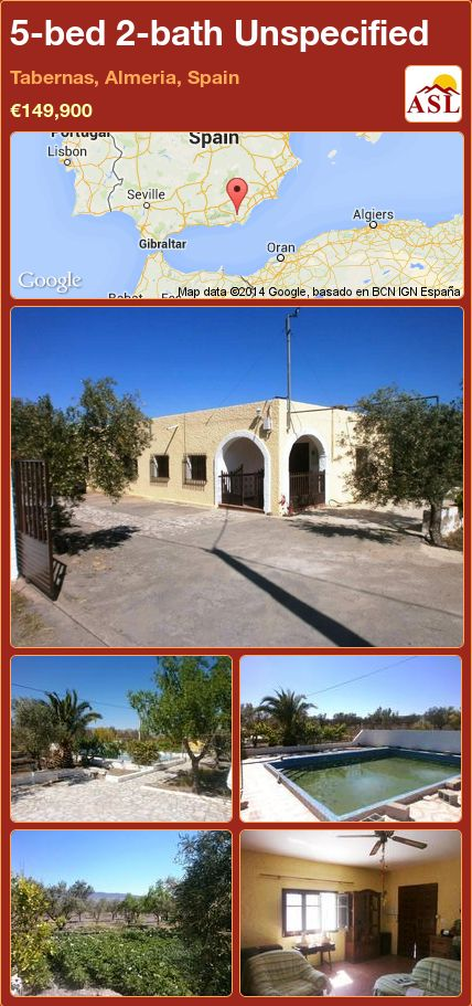 5-bed 2-bath Unspecified in Tabernas, Almeria, Spain ►€149,900 #PropertyForSaleInSpain
