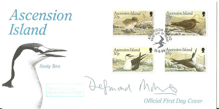 Ascension Island Sooty Tern FDC signed by Dr.Desmond Morris