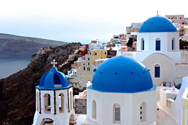 Travelling with kids in Santorini, Greece