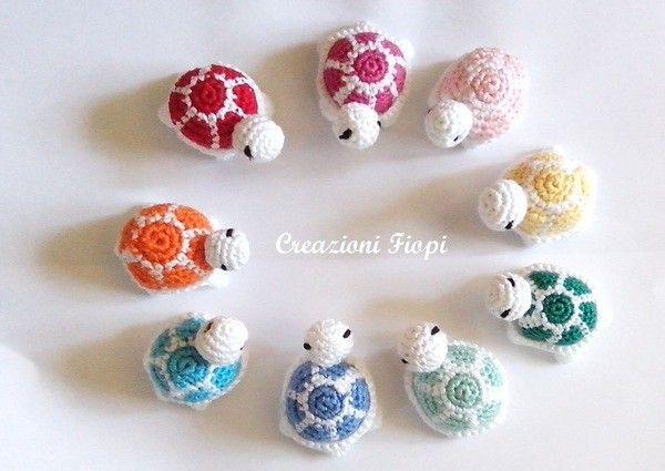 Crochet Pattern amigurumi turtle crochet keychain