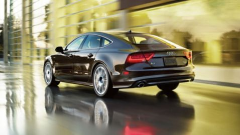Audi A7 3.0T shown in Dakota Gray metallic with available equipment. Find more #Audis at www.carsquare.com #germanauto #european #auto #A7