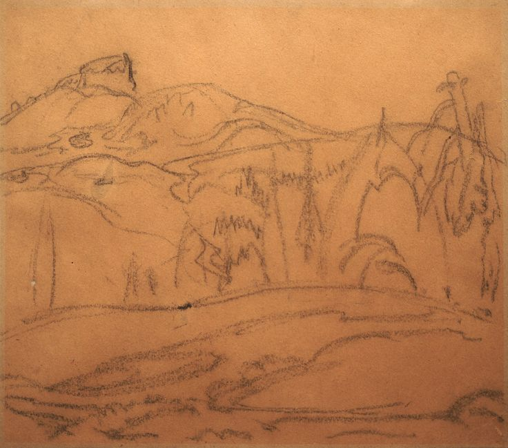 Frederick Varley, 'Black Tusk' at Mayberry Fine Art 11.5 x 13.5 (1928)