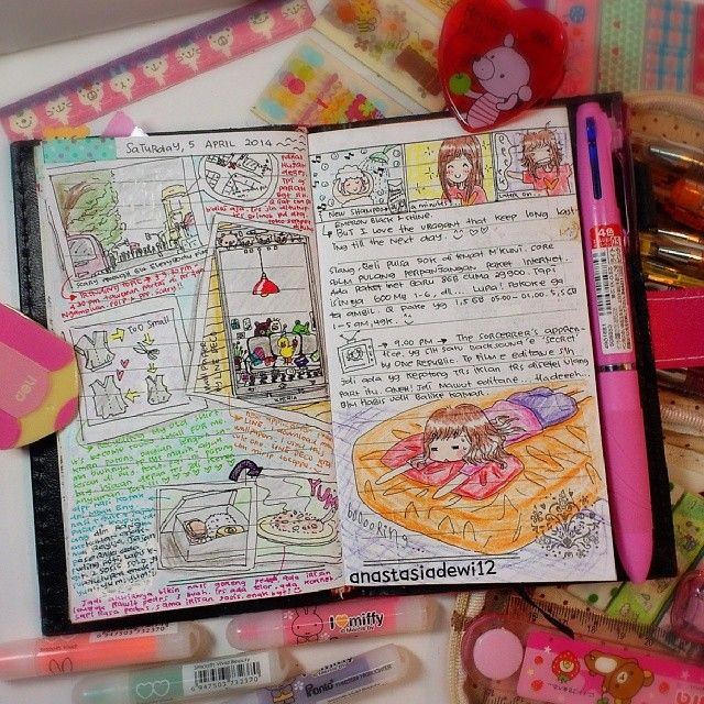 it is very creative to keep a diary! you can start just by writing and you will come up with the drawing too!