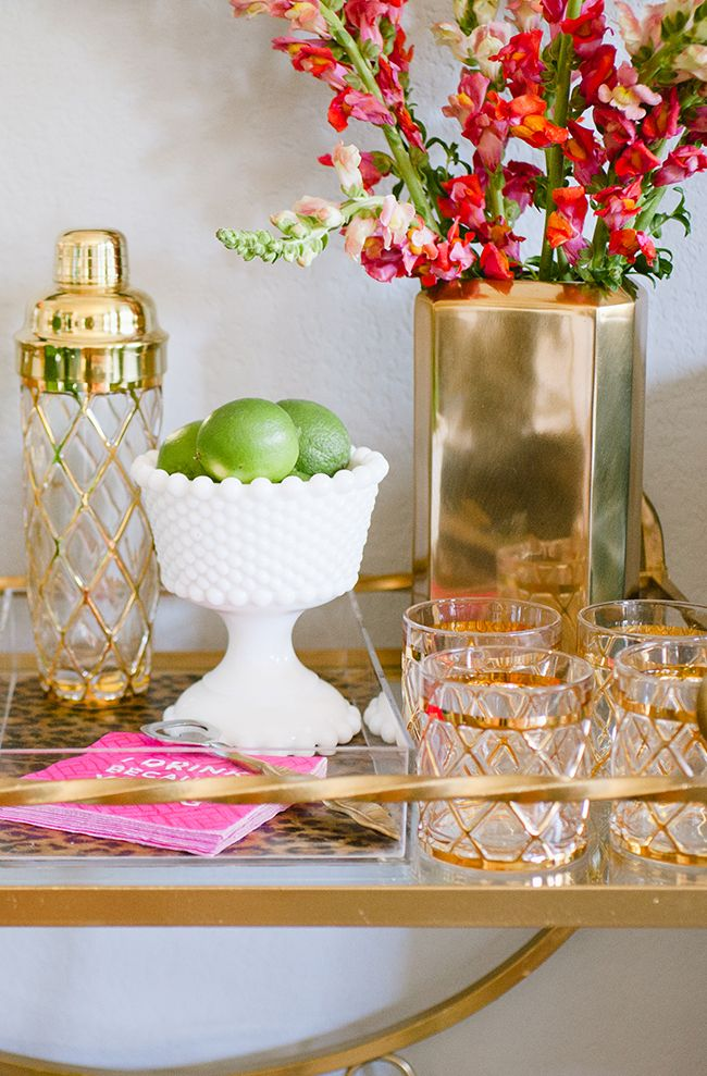 well-styled bar cart #theeverygirl