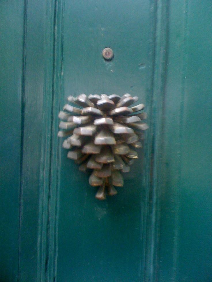 Pine cone doorknocker door knockers closed pinterest we ask me and love - Pine cone door knocker ...