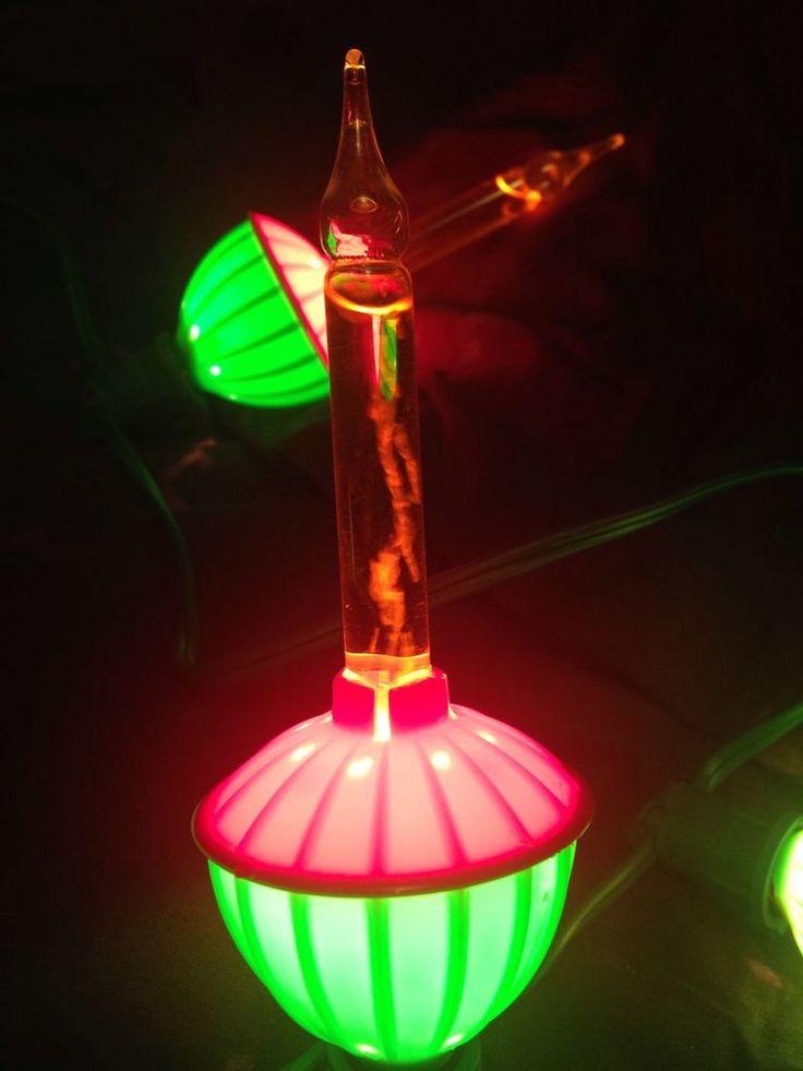 Vtg Bubble Christmas Lights Set of 7 Noma UL Listed in OG Box | eBay