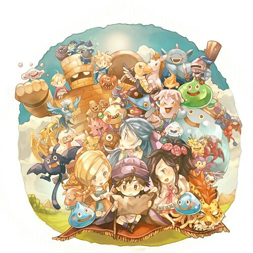 Dragon Quest V- Chibi versions of many characters and monsters from the game.