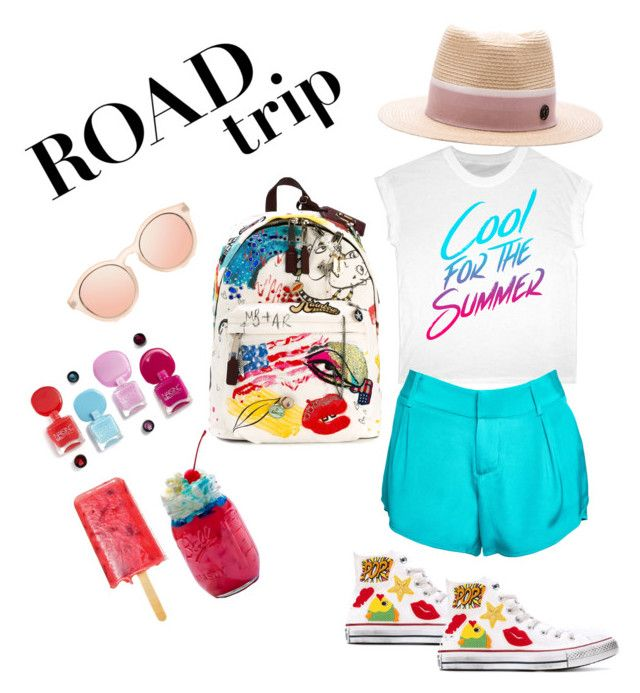 """Summer fun"" by amaliamatei on Polyvore featuring Alice + Olivia, Converse, Maison Michel, Marc Jacobs and roadtrip"