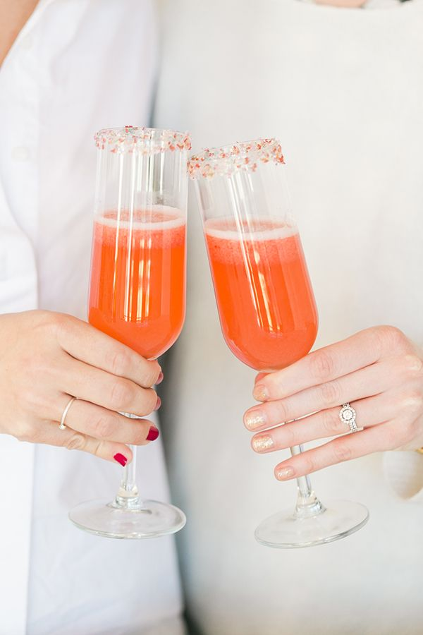 Cheers to this delicious strawberry champagne cocktail recipe.