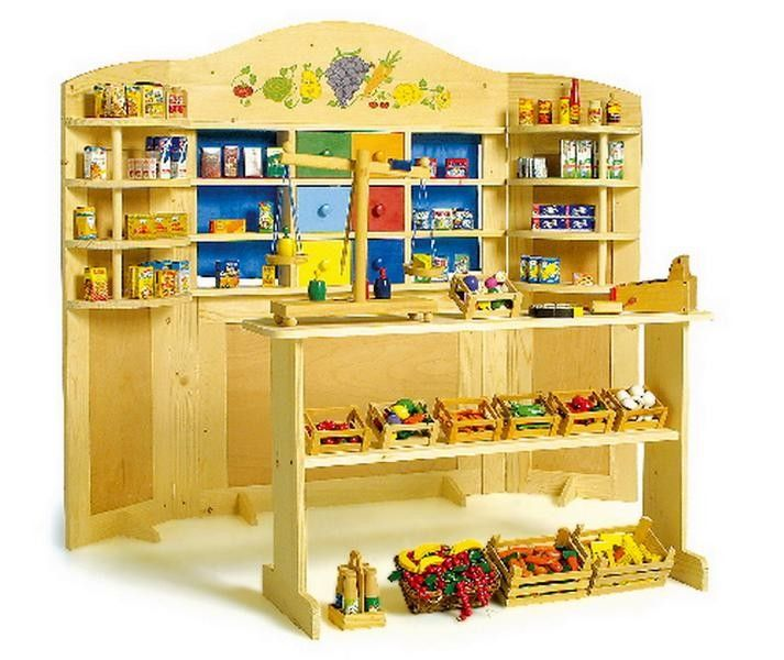 wooden play shop and puppet theatre in 1