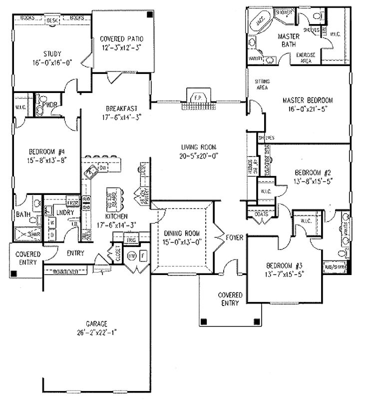 3366 sq ft 5 3 5 fr study no basement houseplans 3000 No basement house plans