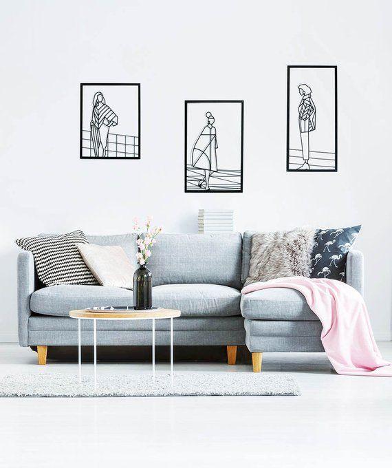 Minimalist Wall Art Set Of 3 Wall Art Metal Home Decor House