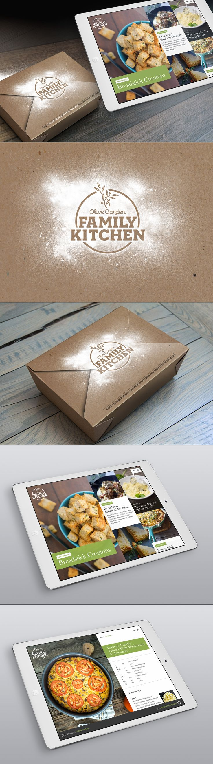 DBROWNIFIED  Olive Garden Box & App Design Concept: Print Design, Logo Design, App Design, Photoshop, Typography