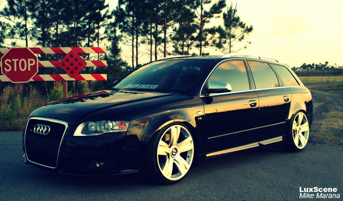Throwback Audi S4 Avant On Bentley Wheels Cars