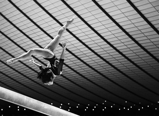TOKYO, JAPAN - APRIL 08: Koko Tsurumi of Japan competes on the Balance Beam during day two of the 66th All Japan Artistic Gymnastics All Around Championships at Yoyogi National Gymnasium on April 8, 2012 in Tokyo, Japan. (Photo by Adam Pretty/Getty Images)