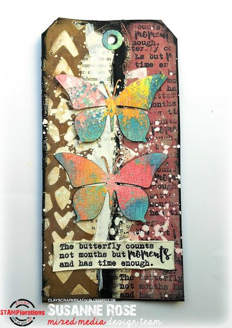 Susanne Rose Designs: Mixed Media Tag Tutorial with Distress Oxides