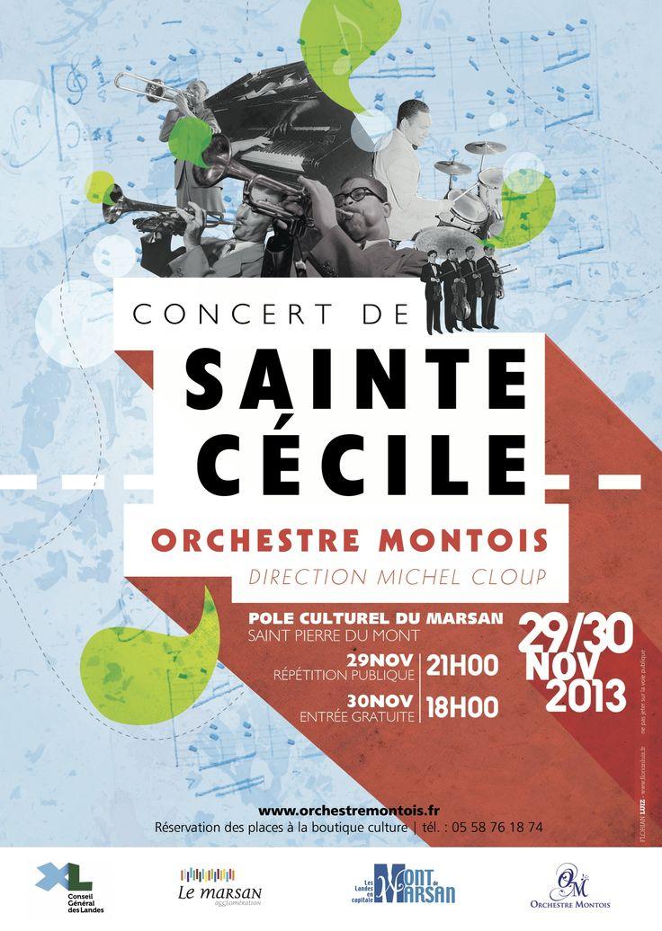 Affiche Concert Sainte-Cécile 2013