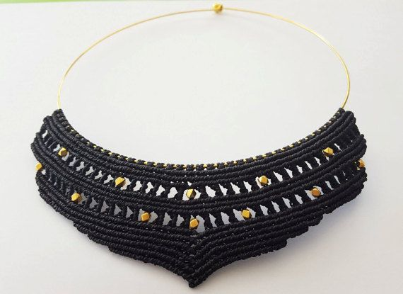 Check out this item in my Etsy shop https://www.etsy.com/listing/471968506/macrame-necklace